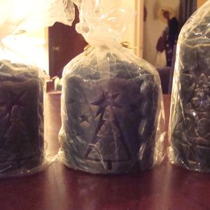 Pier1 Imports Carved Scented Candle Set